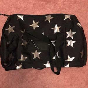 Victoria's Secret PINK Black Star Duffle Bag